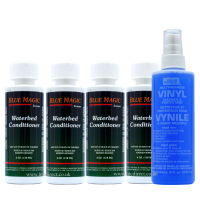 Blue Magic Waterbed Vinyl Cleaner 250ml and 4xConditioner 118ml