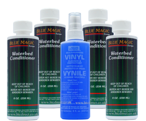 Blue Magic Waterbed Vinyl Cleaner 250ml and 4xConditioner 238ml