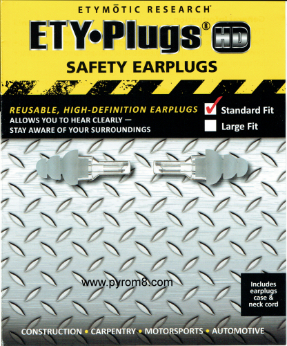 ETY•Plugs® HD•Safety™ Earplugs Standard Fit