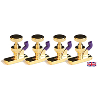 Violin Fine Tune Adjuster Hill Model Gold 4/4 x 4
