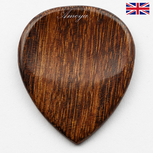 WOODEN GUITAR PLECTRUMS / PICKS MADE FROM EXOTIC WOODS - Click Image to Close