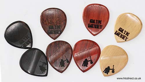 WOODEN GUITAR PLECTRUMS/PICKS MADE FROM EXOTIC WOODS - Click Image to Close