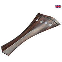 Tailpiece Rosewood Wood - Hollow Harp Model with Ebony Trim