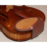 Violin Shoulder Rest - Soft Leather - Luxury Chinrest Version