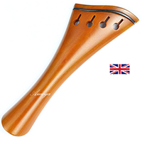 Tailpiece Boxwood - Harp Model with Ebony Trim + Free Tailgut
