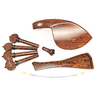 Violin Fittings Set Finest Tamarind Wood