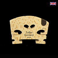 Teller Violin Bridge 4/4 Maple 3 Star- Germany Ebony Insert - Click Image to Close